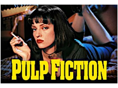 "Uma Thurman in an iconic mug for the 1994 action-thriller ""Pulp Fiction"""