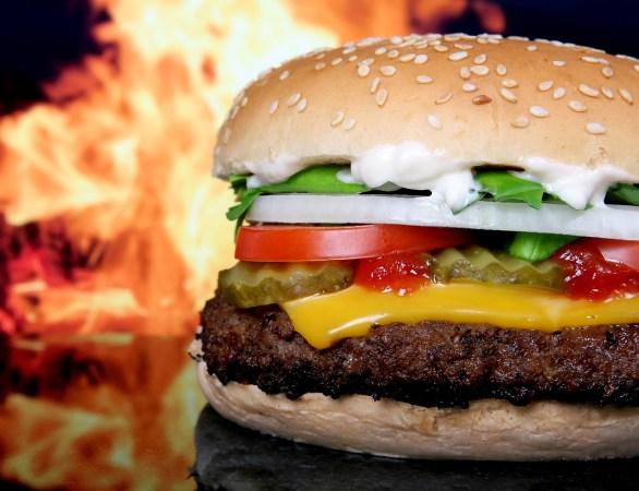 Hamburger er fantastisk godt!