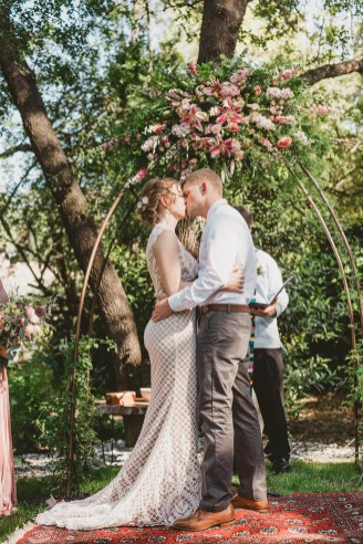 Megan and Patrick - Backyard Boho Wedding-95