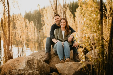 Stephanie and Brett - Tahoe Engagement Session-7
