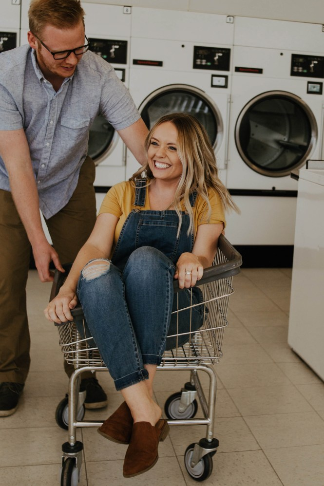 Laundromat Engagement-13