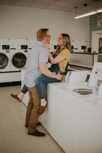 Laundromat Engagement-27