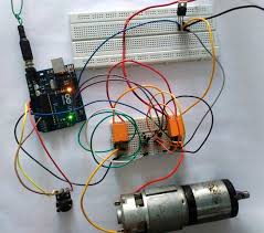 Speed and Direction Control of DC and Stepper