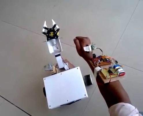 Robot Controlled by Wireless Magical Hand