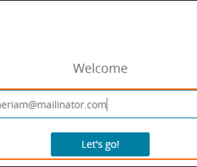 Enter An Email Address And Then Click On Lets Go