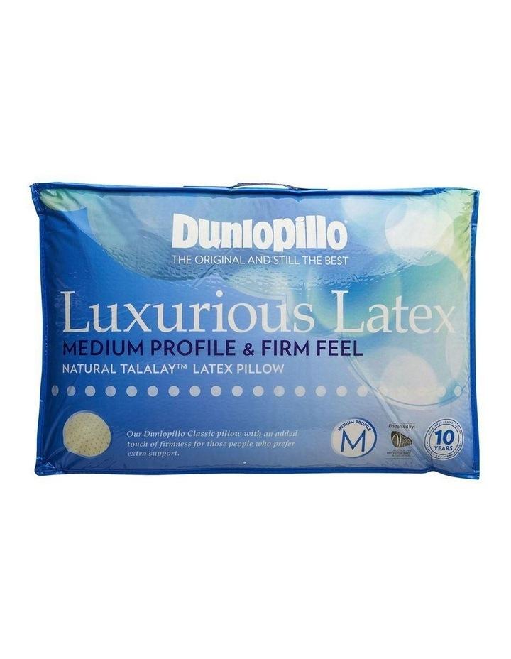 dunlopillo luxurious latex pillow medium profile firm feel