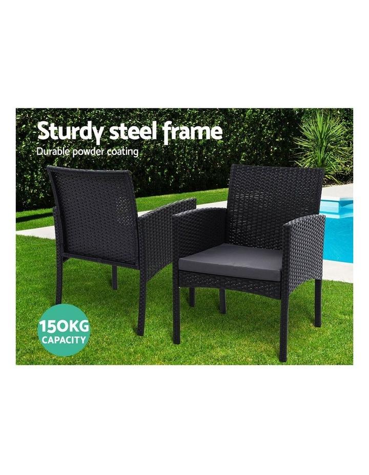 gardeon outdoor bistro chairs patio furniture dining chair wicker garden cushion tea coffee cafe bar set
