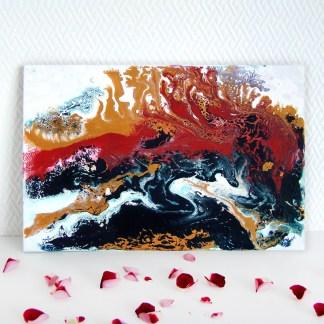 Картина акрилом «Вулкан страстей»
