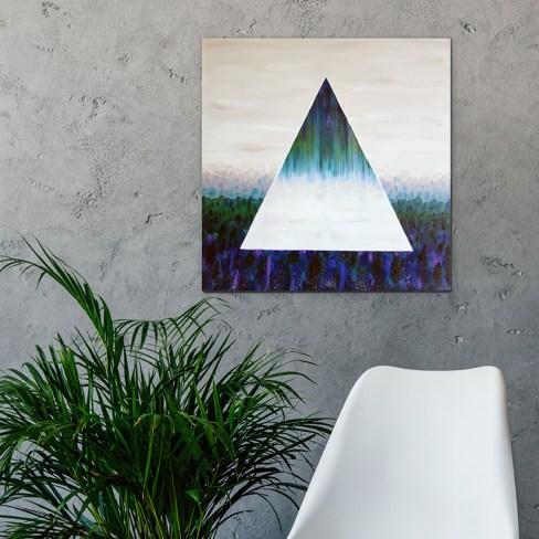 Холст масло «Зазеркалье» картина абстракция 50х50см.