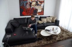 Helge's temporary apartment. Nice!