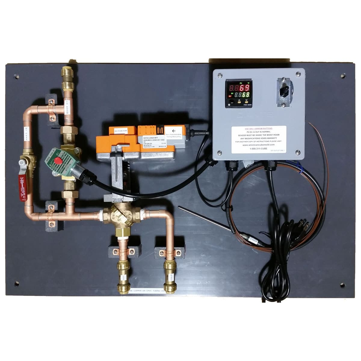 moisture room control system