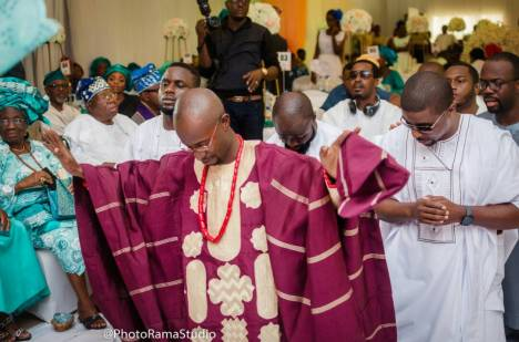 Wedding planner in lagos, groom in traditional attire