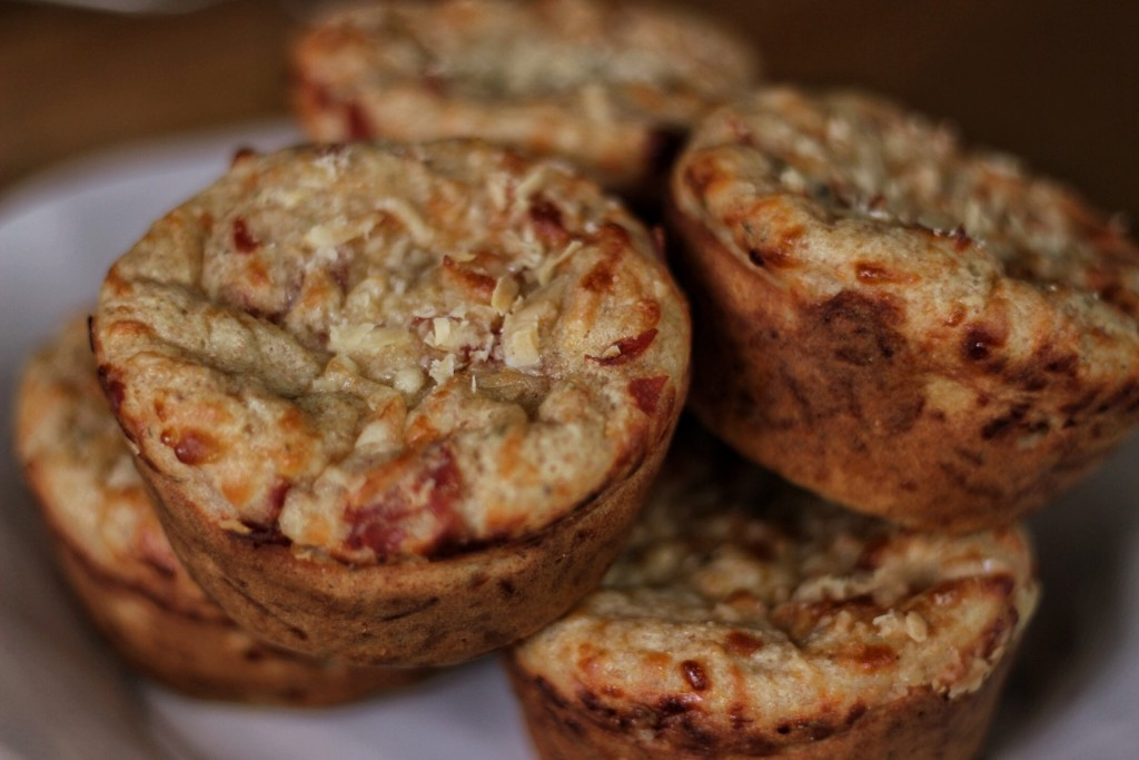 pizza muffins up close