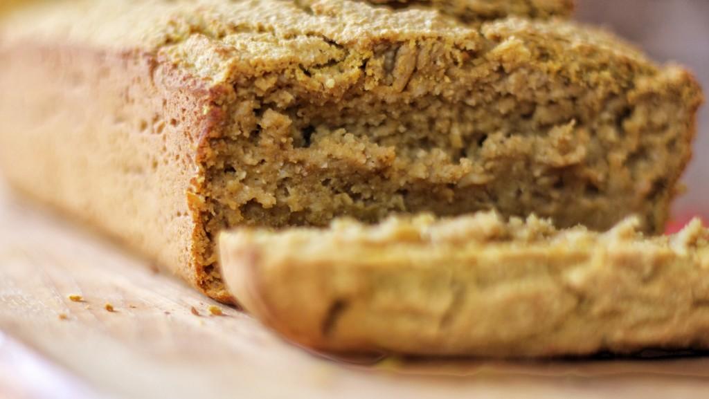 pumpkin bread close