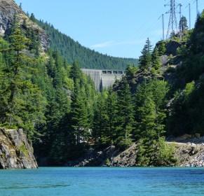 Ross Dam holds back Ross Lake