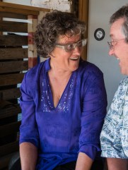 Donna and Ken share a laugh
