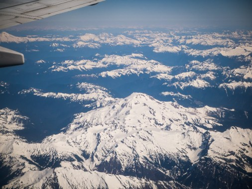 Glacier Peak. See the mountains of the NW is always a welcome sight.