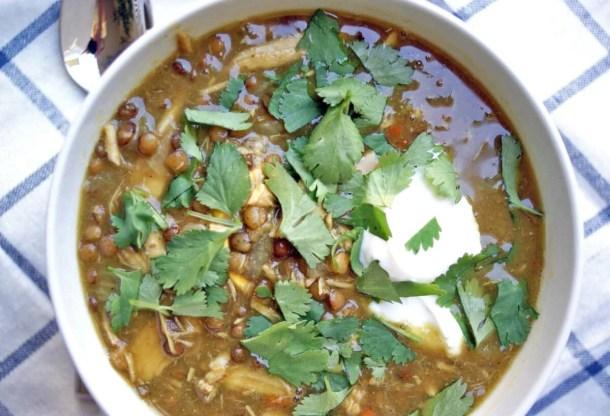 Curried Lentil Turkey Soup