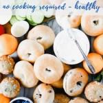 bagel bar brunch platter recipe - pinterest