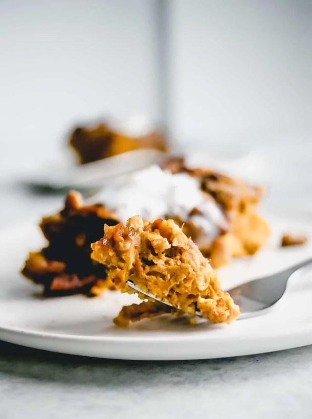 Baked Pumpkin Pie Oatmeal