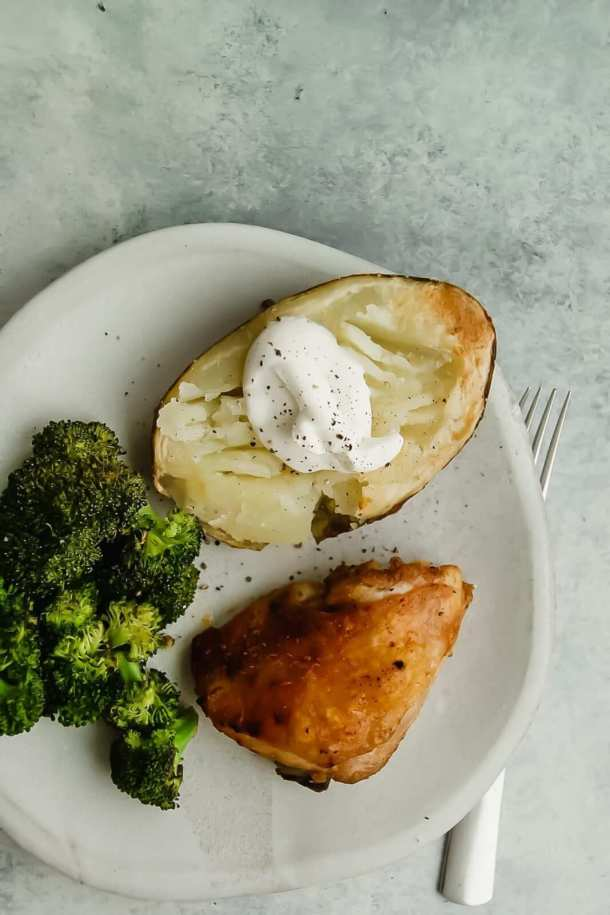 Roasted Chicken Thigh Sheet Pan Dinner