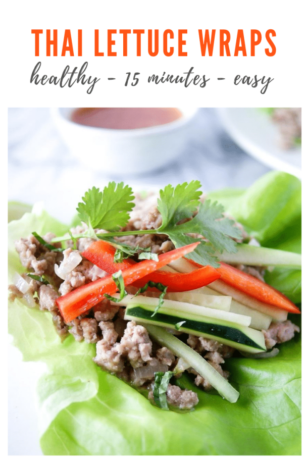 thai lettuce wraps with pork recipe - pinterest