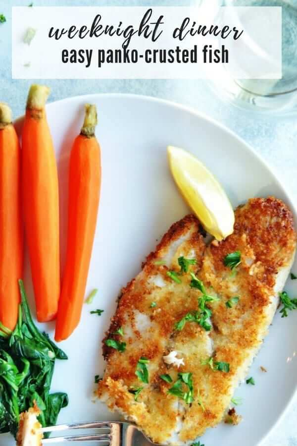panko crusted fish