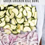 Greek Chicken Rice Bowls for meal prep - pinterest