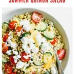 summer quinoa salad recipe - pinterest