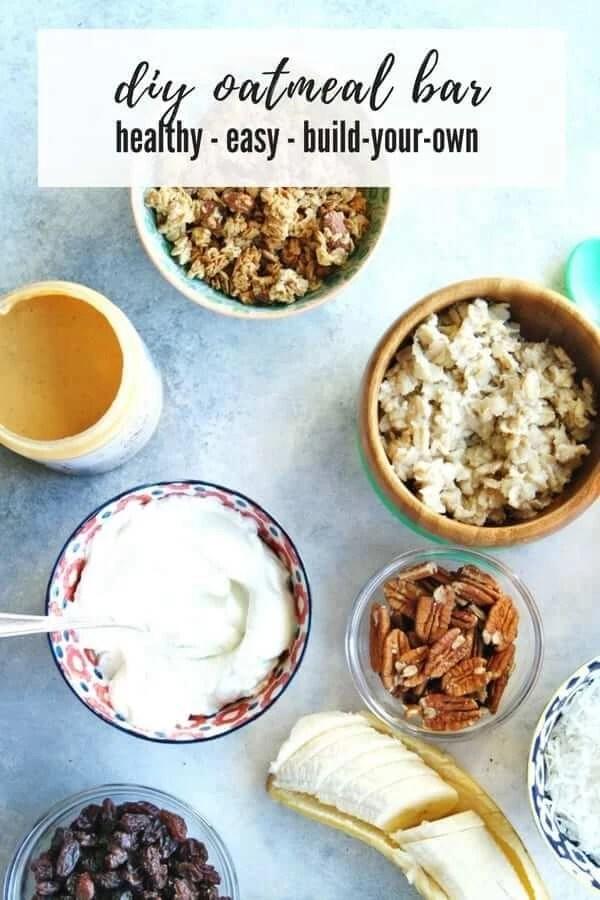 diy oatmeal bar