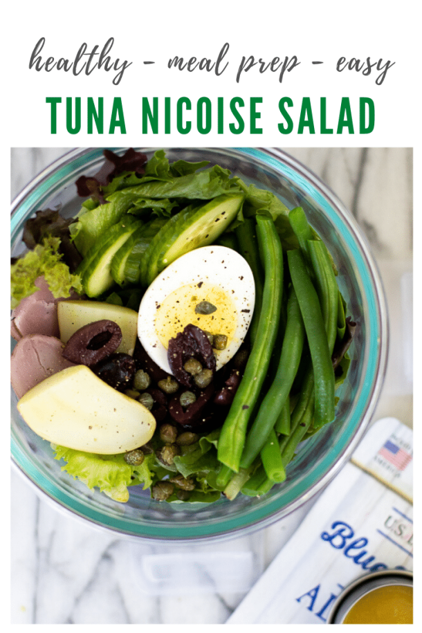 tuna nicoise salad meal prep recipe - pinterest -