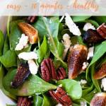 arugula salad with dried figs - pinterest