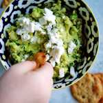 avocado, basil & feta spread