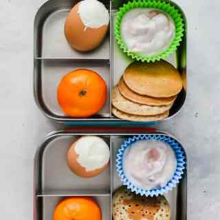 overhead shot bento breakfast box