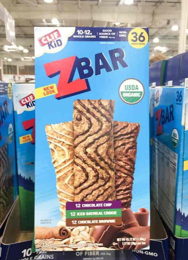 clif kid z bar snacks from costco