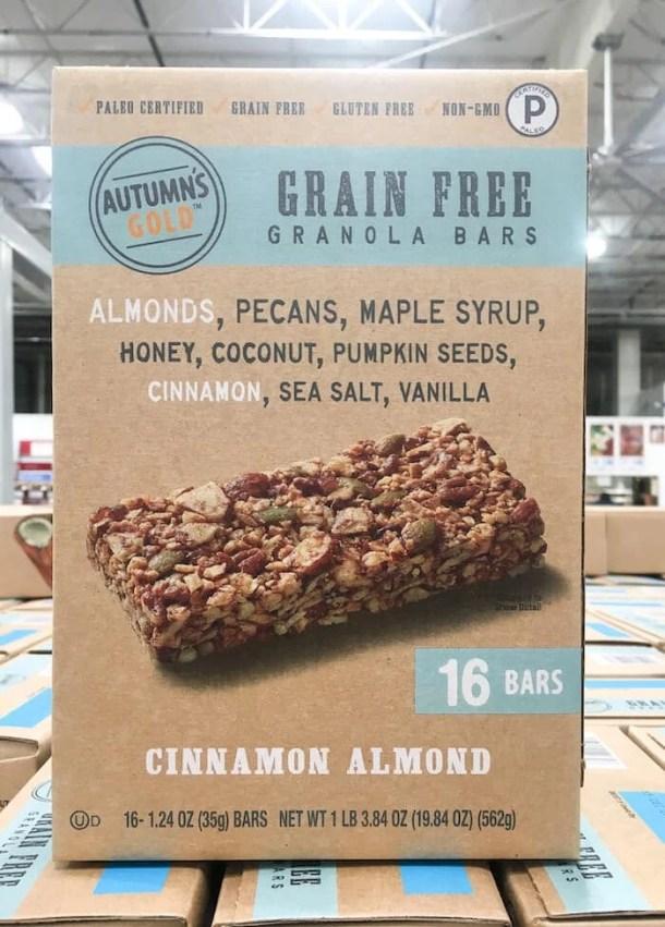 autumn's gold grain free granola bars box