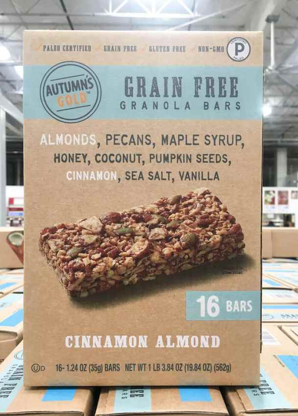 autumn's gold grain free granola bars box