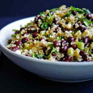 black bean quinoa salad | anutritionisteats.com