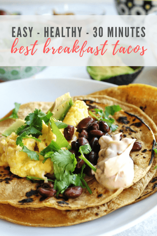 breakfast tacos recipe - pinterest