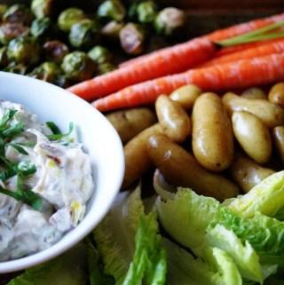 Charred Triple-Onion Dip with Crudités   anutritionisteats.com