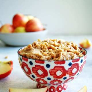 Creamy Peanut Butter Apple Dip is creamy, nutty, and slightly sweet.