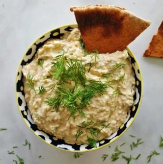 Creamy Dill Hummus - a twist on classic hummus! | anutritionisteats.com