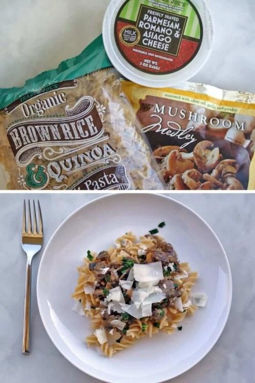 easy trader joes recipe mushroom pasta