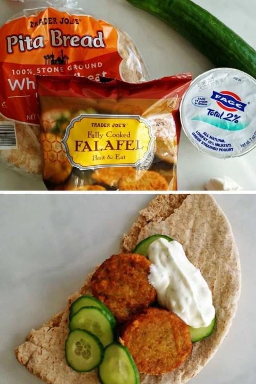 easy trader joes recipe falafel sandwich