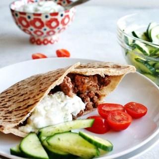 Greek Beef Pita Sandwiches are like a sloppy joe with a greek twist!