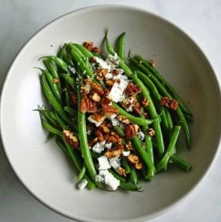 Green Beans Vinaigrette with Blue Cheese | anutritionisteats.com