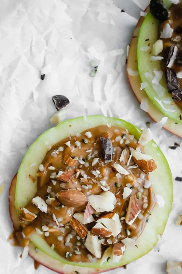 Healthy Peanut Butter Apple Stacks