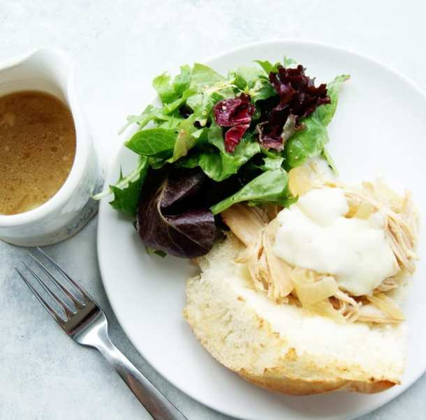 Healthy Slow Cooker Turkey French Dips