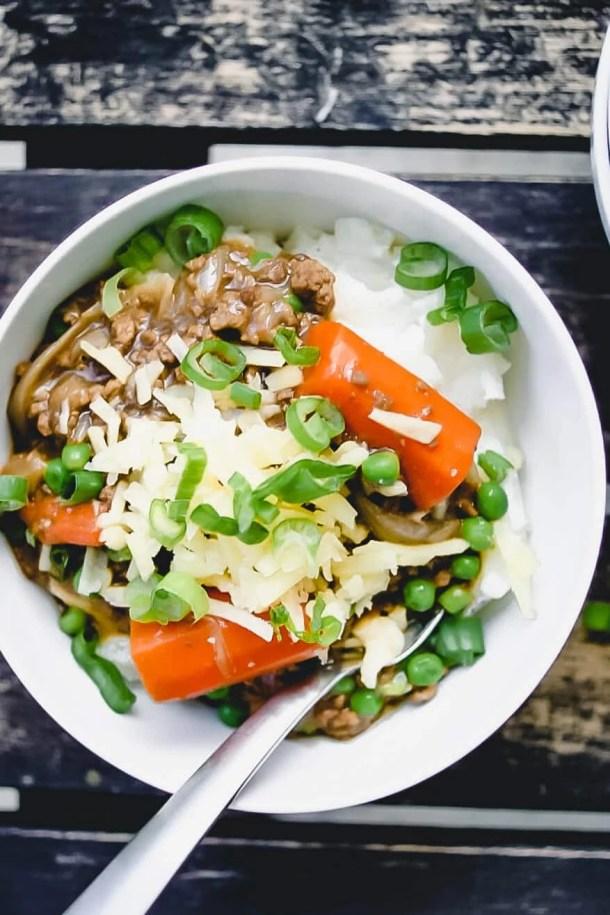 irish stew - bowl with spoon