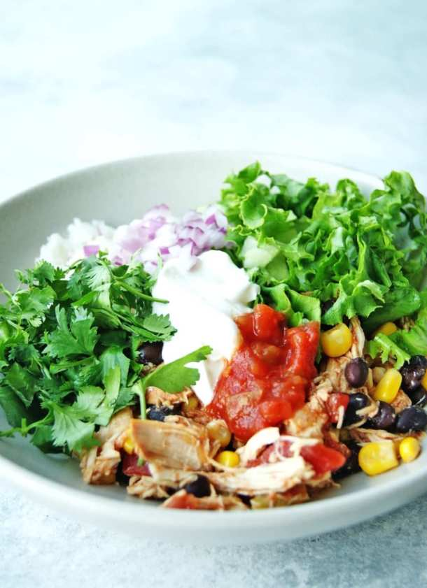 slow cooker chicken burrito bowls 8
